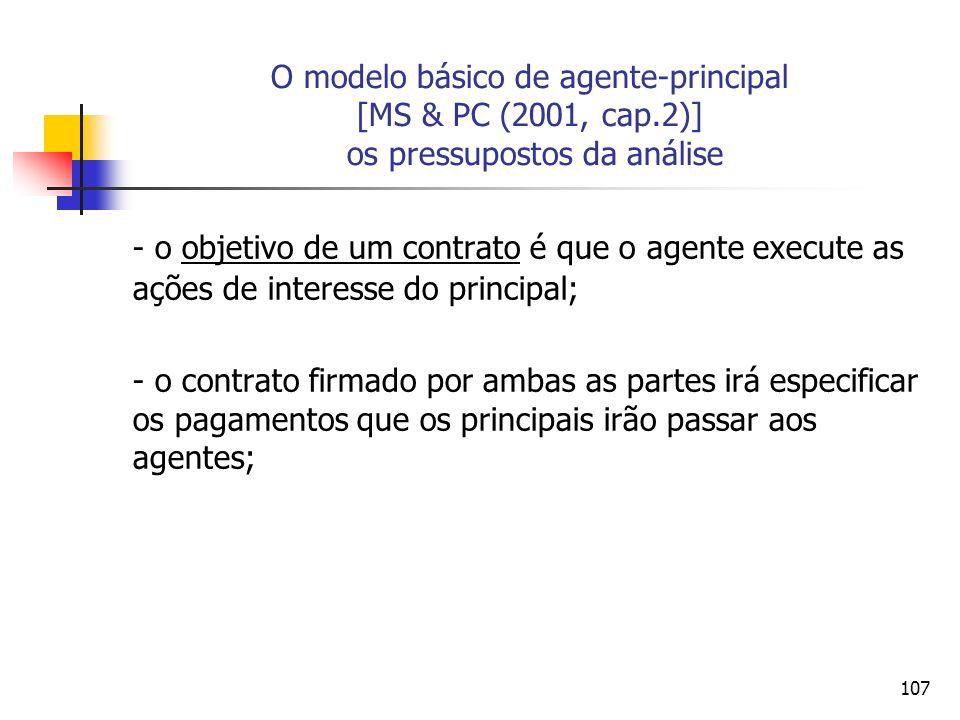 O modelo básico de agente-principal [MS & PC (2001, cap